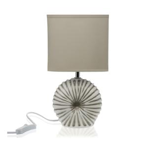 Svetlosivá stolová keramická lampa Versa Thomas