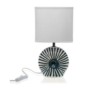 Biela stolová keramická lampa Versa Thomas
