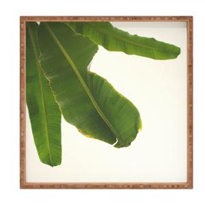 Drevený dekoratívny servírovací podnos Leaf, 40×40 cm