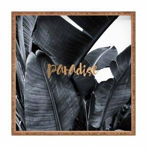 Drevený dekoratívny servírovací podnos Paradise, 40×40 cm