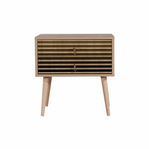 Nočný stolík s 2 zásuvkami Two Intim, 40×60 cm