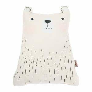 Biely detský vankúšik s prímesou bavlny Apolena Pillow Toy Bear Cute, 22 x 30 cm