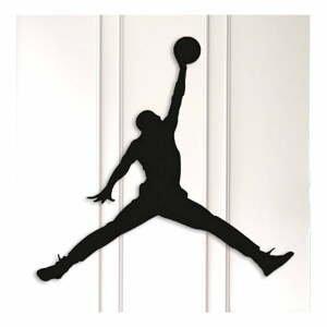 Čierna kovová nástenná dekorácia Basketball