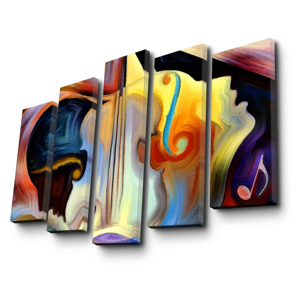 5-dielny nástenný obraz na plátne Psychadelic