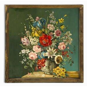 Nástenný obraz Vintage Flowers, 50 × 50 cm