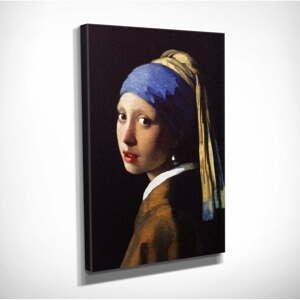 Nástenná reprodukcia na plátne Johannes Vermeer The Girl with Pearl, 30 × 40 cm