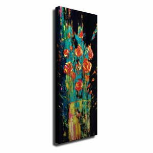 Nástenný obraz na plátne Vintage Flowers, 30 × 80 cm