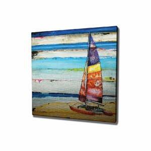 Nástenný obraz na plátne Boat, 45 × 45 cm