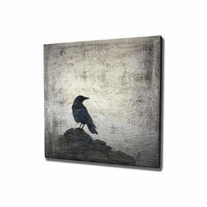 Nástenný obraz na plátne Black Bird, 45 × 45 cm