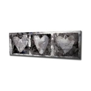 Nástenný obraz na plátne Hearts, 80 × 30 cm