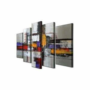 5-dielny nástenný obraz na plátne Abstract