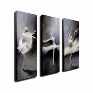 3-dielny nástenný obraz na plátne Ballet