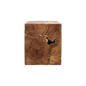 Príručný stolík z teakového dreva HSM collection Cube, 30×35 cm