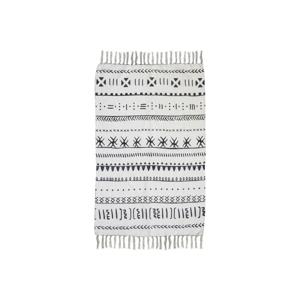 Čierno-biely bavlnený koberec HSM collection Colorful Living Manio, 150×210 cm