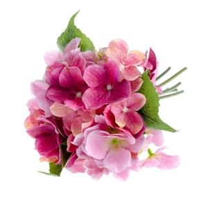 Ružový umelý kvet v štýle hortenzie Dakls