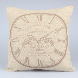 Svetlohnedá obliečka na vankúš Dakls Clock, 40 x 40 cm