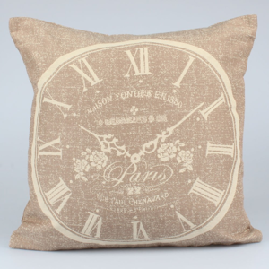 Tmavohnedá obliečka na vankúš Dakls Clock, 40 x 40 cm