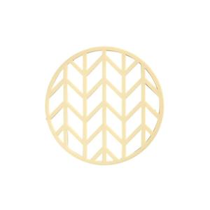 Žltá silikónová podložka pod horúce nádoby Zone Crop, ⌀ 14,5 cm
