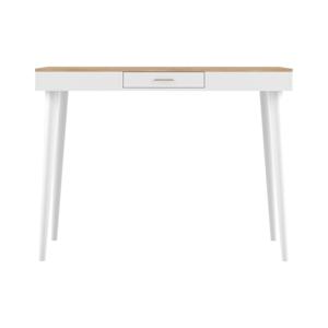 Biely barový stolík s doskou v dekore duba TemaHome Horizon