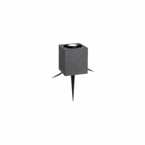 Čierne hranaté zápustné svietidlo Markslöjd Garden 24, 3 W