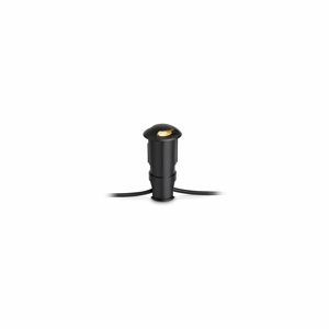 Čierne zápustné svietidlo Markslöjd Garden Star Light