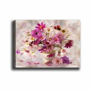 Nástenný obraz na plátne Tablo Center Flowers in Vase, 40 × 60 cm