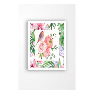Nástenný obraz na plátne v bielom ráme Tablo Center Garden Friends, 29 × 24 cm