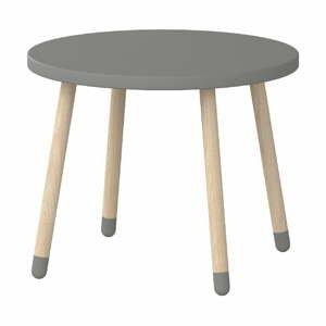 Sivý detský stolík Flexa Play, ø 60 cm
