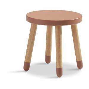 Ružová detská stolička Flexa Play, ø 30 cm