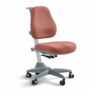 Ružová detská otočná stolička na kolieskach Flexa Verto, 7 - 12 let