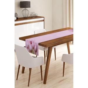 Behúň na stôl z mikrovlákna Minimalist Cushion Covers Tulips, 45×145 cm