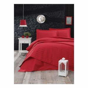 Červený ľahký prešívaný pléd Mijolnir Monart, 220 × 240 cm