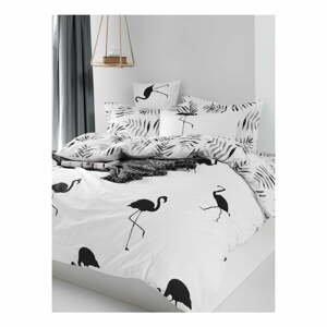 Obliečky s plachtou na dvojlôžko z ranforce bavlny Mijolnir Hope Black, 200 × 220 cm