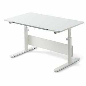 Biely písací stôl s nastaviteľnou výškou Flexa Evo Full