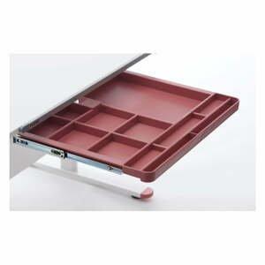 Červená prídavná zásuvka k písaciemu stolu Flexa Evo