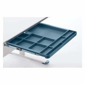 Modrá prídavná zásuvka k písaciemu stolu Flexa Evo