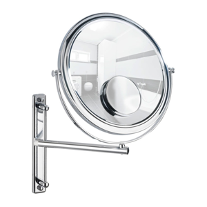 Vyťahovacie nástenné zrkadlo Wenko Bivona, ø 30 cm