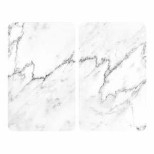 Sada 2 sklenených krytov na sporák Wenko Marble, 52×30 cm