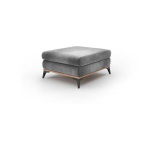 Sivý puf so zamatovým poťahom Windsor & Co Sofas Astre