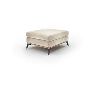 Béžový puf so zamatovým poťahom Windsor & Co Sofas Astre