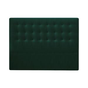 Tmavozelené čelo postele so zamatovým poťahom Windsor & Co Sofas Athena, 180×120 cm