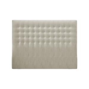 Béžové čelo postele so zamatovým poťahom Windsor & Co Sofas Apollo, 140×120 cm