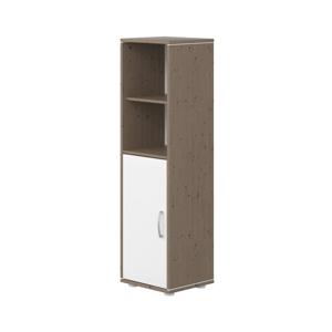 Hnedo-biela detská skrinka z borovicového dreva Flexa Classic, výška 133 cm