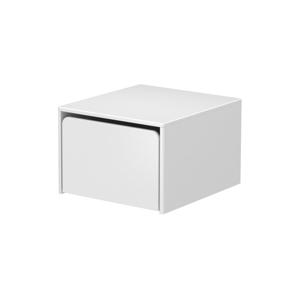 Biela detská úložná lavica Flexa Cabby, šírka 51,3 cm