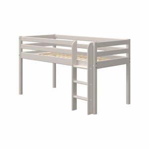 Sivá detská posteľ z borovicového dreva Flexa Classic, výška 120 cm