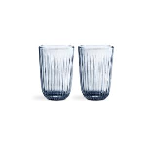 Sada 2 modrých sklenených pohárov Kähler Design Hammershoi, 330 ml