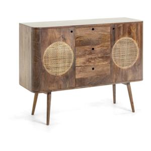 Hnedá komoda z mangového dreva La Forma Geraldine, 120 × 40 cm