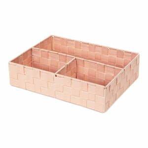 Ružový organizér s 3 priehradkami Compactor Stan, 32 x 25 cm