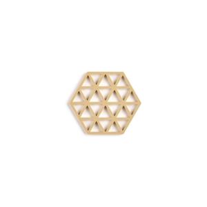 Horčicovožltá silikónová podložka pod hrniec Zone Triangles