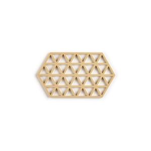 Horčicovožltá silikónová podložka pod hrniec Zone Triangles Large